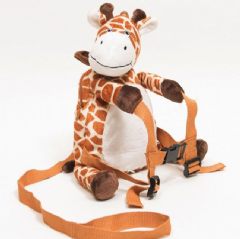 Personalised BoBo Buddies Raffy the Giraffe Toddler Backpack with Reins